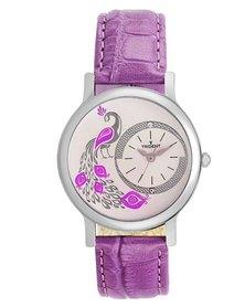 Trident Croatia Ladies Watch Purple Leather