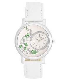 Trident Florence Ladies Watch White Leather