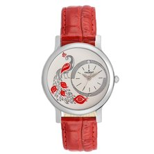 Trident Venice Ladies Watch Red Leather
