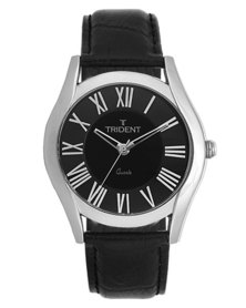 Trident Iceland Mens Watch Black Leather