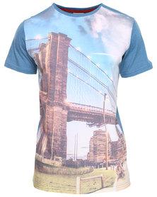 Triple Five Soul Brookland Bridge Dye Sublimated T-Shirt Blue/Multi