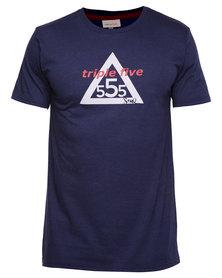 Triple Five Soul Houma Tee Navy