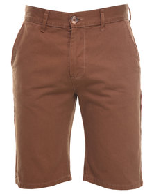 Triple Five Soul Kingston Chino Shorts Brown