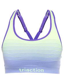 Triumph Performance Triaction Seam Free Stripe Bra Blue