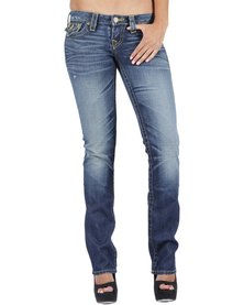 True Religion Billy Gold Fashion Vintage Jeans Blue