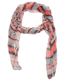 Tweet Colour Pop Aztec Scarf Multi