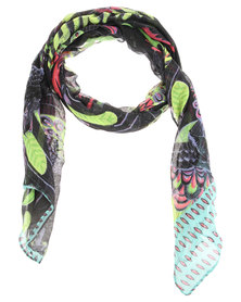 Tweet Tropical Bird Print Scarf Multi