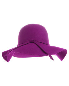 Tweet Wide Brim Hat Purple