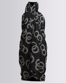 UB Creative Sarong Cover Up Black and White Circle