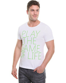 Unruly Play The Game Tee White