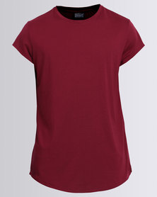 Unruly Longer T Shirt Red