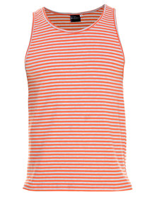 Unruly Stripe Vest Orange/Grey