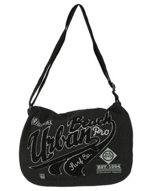 Urban Beach Mens Messenger Bag Grey