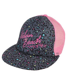 Urban Beach Trucker Cap South Beach RockStar Pink