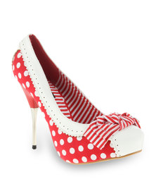Urban Zone Gweneth Heels Red & White