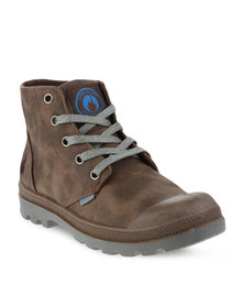 Urbanart L Columbia 1 Nub Ankle Boots Brown