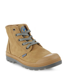 Urbanart L Columbia Nub Tan Ankle Boots Brown