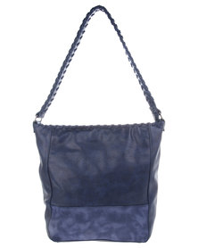 Utopia Whipstitch Detail Bag Navy