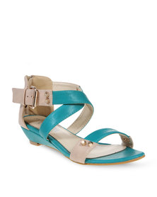 Utopia Buckle Wedges Green