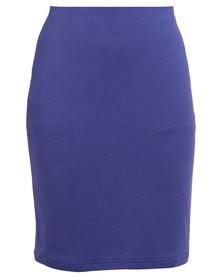 Utopia Pencil Skirt Blue