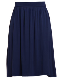 Utopia Midi Skirt Navy