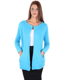 Utopia Collarless Jumper Blue