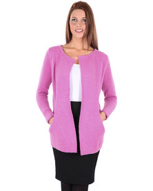 Utopia Collarless Jumper Pink