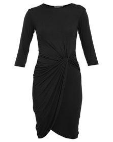 Utopia Knot Dress Black