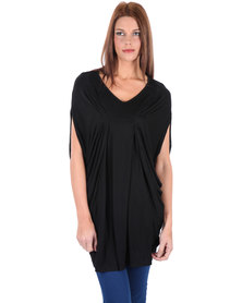 Utopia V-Neck Top Black