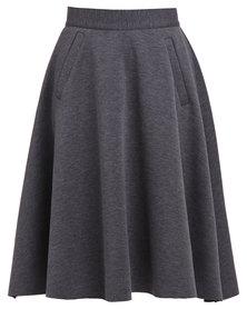 Utopia Flared Skirt Grey