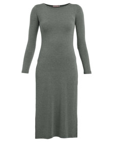 Utopia Long Top with Side Slits Grey