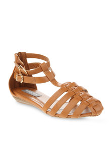 Utopia T Bar Flats Tan