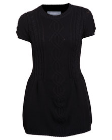 Utopia Knitwear Pinny Black