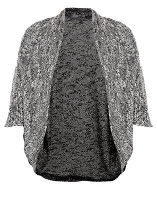 Utopia Boucle Cut n Sew Cardi Black/Grey  Undercut Boucle
