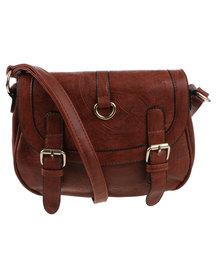 Utopia Laser Detail Saddle Bag Brown