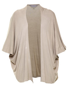Utopia Basic Knit Cardigan Stone