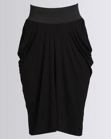 Utopia Drape Skirt Black
