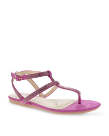 Utopia Strappy Embellished Sandals Purple