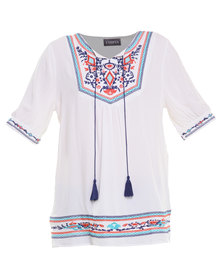 Utopia Folk Top White