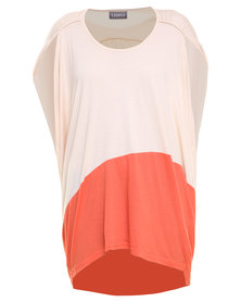 Utopia Colourblock Top Beige