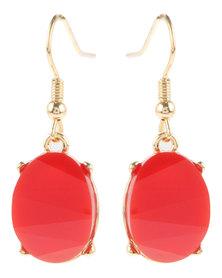 Utopia Stone Earrings Red