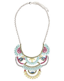 Utopia Stonework Statement Necklace Multi