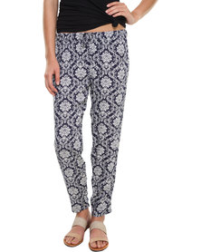 Utopia Damask Printed Pants Blue