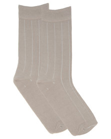 Utopia Basic Men's Socks Stone