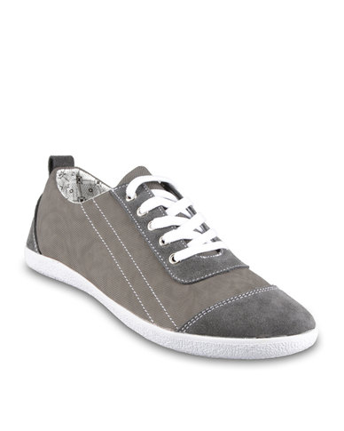 Utopia Selvage Contrast Sneakers Grey