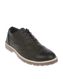 Utopia Burnished Brogues Khaki
