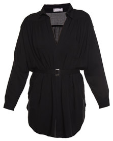Utopia Shirt Dress Black