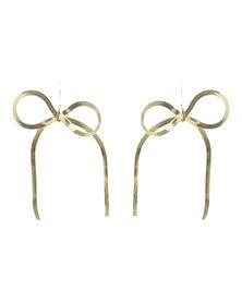 Utopia Bow Drop Earrings Gold-Tone