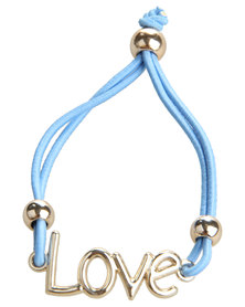 Utopia Love Elastic Bracelet Blue
