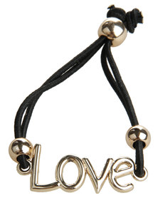Utopia Love Elastic Bracelet Black